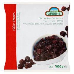 Greens Fresh Frozen Blackberries 1000g