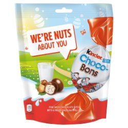 Kinder Milk Chocolate and Hazelnuts Choco-Bons Pouch 200g