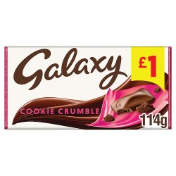 Galaxy Cookie Crumble Chocolate £1 PMP Bar 114g