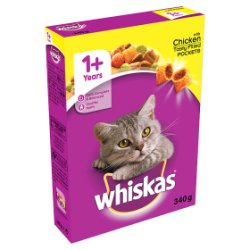 WHISKAS 1+ Cat Complete Dry with Chicken 340g
