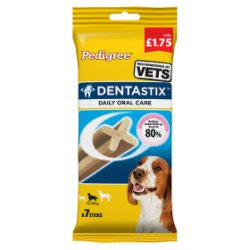PEDIGREE DentaStix Daily Dental Chews Medium Dog 7 Stick MPP £1.75