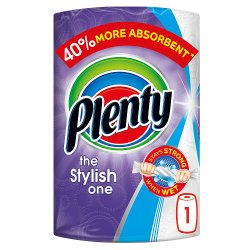 Plenty Decorated Kitchen Roll 100 Sheets