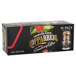 Kopparberg Premium Cider with Strawberry & Lime 10 x 330ml