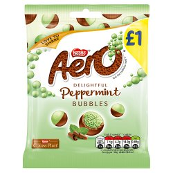Aero Bubbles Peppermint Mint Chocolate Bag 80g