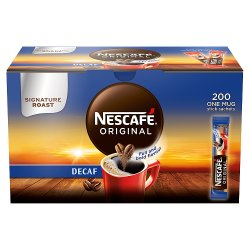 NESCAFÉ Original Instant Decaffeinated Coffee, 200 Sachets x 1.8g
