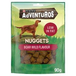 Adventuros Nuggets Dog Treats Boar Flavour 90g