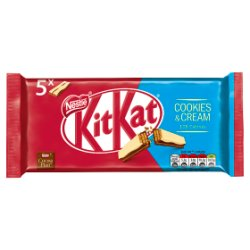 KITKAT 2 Finger Cookies & Cream Chocolate Biscuit Bar 5 Pack