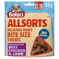 Bakers Dog Treats Mixed Variety Allsorts 98g