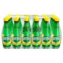 Perrier Lemon Sparkling Natural Mineral Water 24x500ml