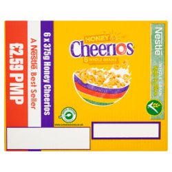 Nestlé Honey Cheerios 6 x 375g