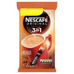NESCAFÉ Original 3in1 Caramel Instant Coffee, 6 Sachets x 17g