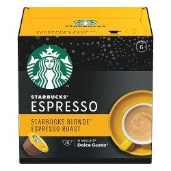 STARBUCKS by NESCAFÉ DOLCE GUSTO Blonde Espresso Roast Coffee Pods, Box of 12, 66g