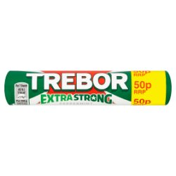 Trebor Extra Strong Peppermint 50p Mints Roll 41.3g