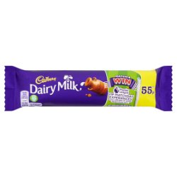 Cadbury Dairy Milk 55p Chocolate Bar 45g