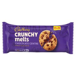 Cadbury Crunchy Melts Chocolate Centre Chocolate Chip Cookies £1.29 156g