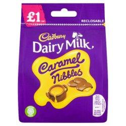 Cadbury Dairy Milk £1 Caramel Nibbles Bag 95g