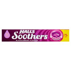 Halls Soothers Blackcurrant Sweets 75p 45g