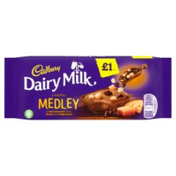 Cadbury Dairy Milk Medley Fudge £1 Chocolate Bar 93g