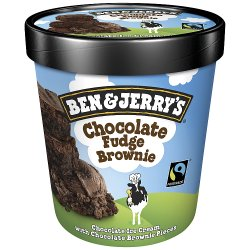Ben & Jerry's Classic Chocolate Fudge Brownie Ice Cream 500ml