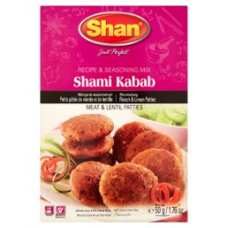 Shan Shami Kabab Recipe & Seasoning Mix 50g