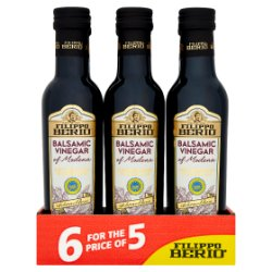 Filippo Berio Balsamic Vinegar of Modena 6 x 250ml