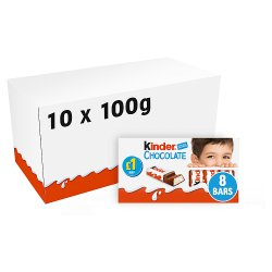 Kinder Chocolate Small Bars PMP Multipack 8 x 12.5g (100g)
