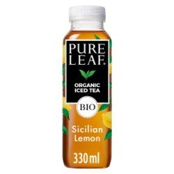 Pure Leaf Organic Iced Tea, Sicilian Lemon 330ml