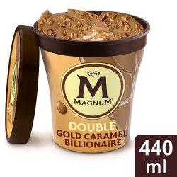 Magnum Double Gold Caramel Billionaire Ice Cream Tub 440 ml