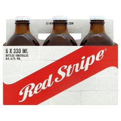 Red Stripe Jamaican Lager Beer 6 x 330ml Bottles