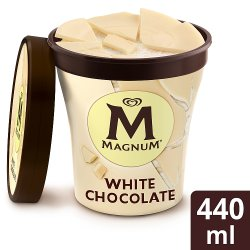 Magnum White Tub 440ml