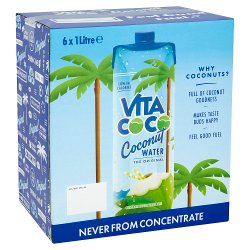 Vita Coco The Original Coconut Water 6 x 1 Litre
