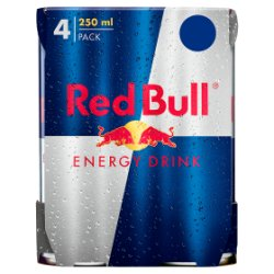 Red Bull Energy Drink, 250ml PMP (4 Pack)
