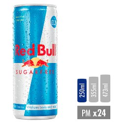 Red Bull Energy Drink, Sugar Free, PM £1.29 250ml (24 Pack)
