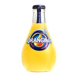 Orangina Sparkling Orange Juice Drink Glass 250ml