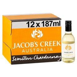 Jacob's Creek Semillon Chardonnay White Wine 12 x 187ml