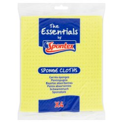 The Essentials by Spontex 4 Sponge Cloths