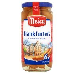 Meica 6 Frankfurters in Natural Skins in Brine 375g