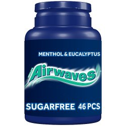 Airwaves Menthol & Eucalyptus Sugar Free Chewing Gum Bottle 46 Pieces