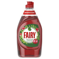 Fairy Clean & Fresh Washing Up Liquid Pomegranate & Honeysuckle 433 ml