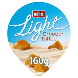 Muller Light Fat Free Toffee Yogurt 160g