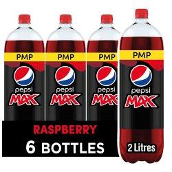 Pepsi Max Raspberry Cola 6 x 2L