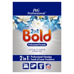 Bold 2in1 Professional Powder Detergent Lotus Flower & Water Lily 7kg 110 Washes