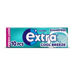 Wrigley's Extra Cool Breeze Sugarfree Gum 10 Pieces 14g
