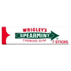 Wrigley's Spearmint Chewing Gum 7 Sticks 18g