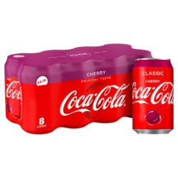 Coca-Cola Classic Cherry 8 x 330ml PMP £4.19
