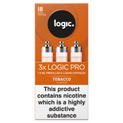 Logic Pro Capsules Tobacco Flavour 18mg