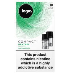 Logic Compact E-Liquid Pods Menthol Flavour 18mg 2 x 1.7ml