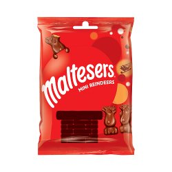 Maltesers Reindeer Chocolate Christmas Mini Treats Bag 59g Clip Strip