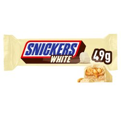 Snickers White Limited Edition Chocolate Bar 49g