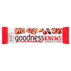 GOODNESSKNOWS® Cranberry & Almond 34g